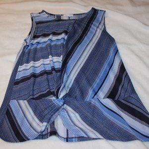 "Sleeveless ""wrap"" front dress top"